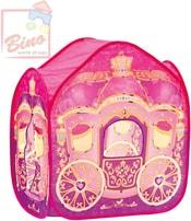 Stan dětský Kočár pro princezny růžový boční vchod s okýnkem