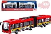 Autobus City Express 46cm plastový na setrvačník funkční dveře 2 barvy