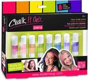 Křídy barevné smývatelné na vlasy set 8ks s aplikátorem Style Me Up