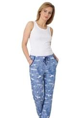 Dámské kalhoty s jemným vzorem