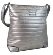 Elegantní prošívaná větší crossbody kabelka YH1607 stříbrná