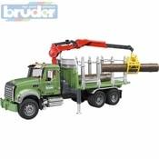 02824 (2824) Nákladní auto MACK Granit přeprava dřeva