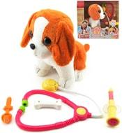 Pes interaktivní 22cm na baterie nemocný set s lékařskými doplňky