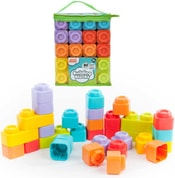Stavebnice baby kostky set 30ks gumové barevné v igelitové tašce na zip