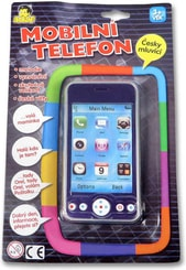 Telefon dětský mobilní 3D dotykový skutečná velikost