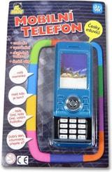 Telefon dětský mobilní 3D vysouvací skutečná velikost na baterie