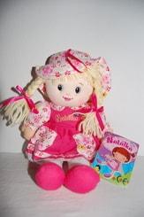 Hadrová panenka Natálka 30 cm s copánky