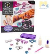 Výroba náramků a prstýnků kreativní set dětská bižuterie