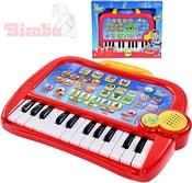 Piano dětské klávesy elektronické 31cm funny keyboard zvířecí zvuky