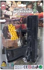 Pistole dětská pružinová kuličkovka set s náboji na kuličky