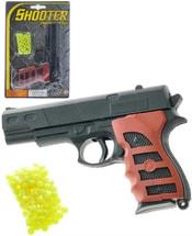 Pistole dětská na kuličky 15cm set plastová kuličkovka s náboji