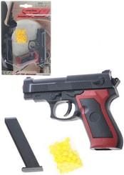 Pistole dětská na kuličky 11cm set plastová kuličkovka s náboji