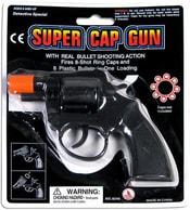 Pistolka kapslovka na kartě plastová 8 ran na kapslíky