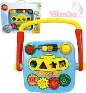 Baby set 4v1 multifunkční chodítko hrací strojek vkládačka