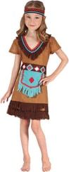 Kostým pro děti Šaty Indiánka vel. M (120-130cm) 5-9 let