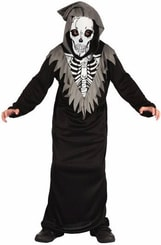 Kostým pro děti Kostlivec vel. M (120-130cm) 5-9 let