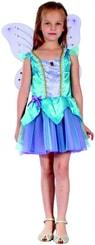 Karnevalový kostým Víla s křídly vel. S (110-120cm) 4-6 let