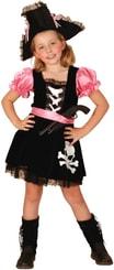Karnevalový kostým Pirátka vel. S (110-120cm) 4-6 let