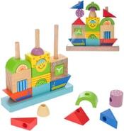 Loďka baby navlékací 2-Play set s kostkami 24 dílků pro miminko