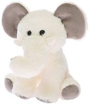 PLYŠ Slon 20cm bílý sedící