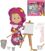 Panenka Máša a medvěd malířka 12cm set s doplňky