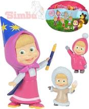 Figurka panenka plastová s doplňkem Máša a medvěd 12 druhů v sáčku