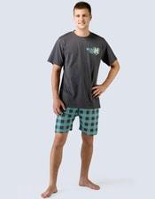 Pánské pyžamo krátké s potiskem 79022P