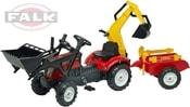 Traktor šlapací Ranch Trac 2051CN s přední a zadní lžící s vlekem a doplňky