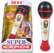 Mikrofon dětský 23cm na baterie s melodií hudební v krabici