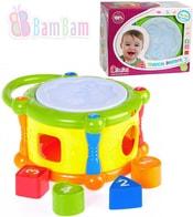 Baby bubínek hudební vkládačka na baterie plastová