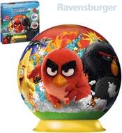 Puzzle 3D plastové Angry Birds puzzleball 72 dílků s podstavcem