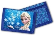 Peněženka dětská 13x8cm Frozen (Ledové Království) na suchý zip modrá