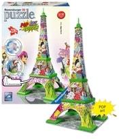 3D PUZZLE Eiffelova věž POP ART, 216 d.