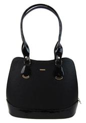 Menší černá matná kabelka přes rameno S634
