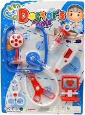 Sada doktorská plastová 7ks dětské lékařské potřeby na kartě