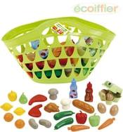 Taška dětská plastová set košík s potravinami ovoce a zelenina