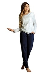 Dámské pyžamo s capri kalhotami se vzorem vloček