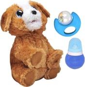 Pes interaktivní 25cm na baterie štěká chodí set s lahvičkou a hrkávkou