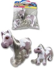Poník set s malým hříbětem koník s mládětem