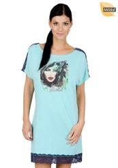 Dámská noční košile s nápisem Feather