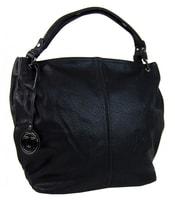 Černá kabelka na rameno s ozdobou 1904-BB