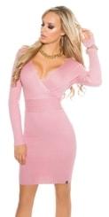 Úpletové dámské šaty in-sat1379spi