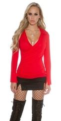 Červené tričko s límečkem in-tr1096re
