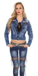 Krátká dámská džínová bunda in-bu1169