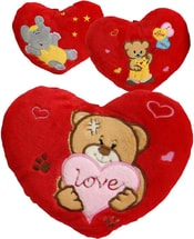 Srdce se zvířátkem 30cm Love 3 druhy