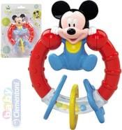 Baby Chrastítko Disney Mickey Mouse 15cm plastové pro miminko