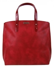 Červená matná kabelka v anglickém stylu S612