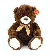 Plyšový medvěd sedící 40 cm tmavý