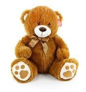 Plyšový medvěd sedící 40 cm hnědý
