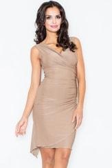 Společenské šaty M053 béžová